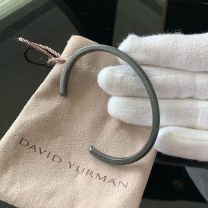 David Yurman   Aged Silver Cuff